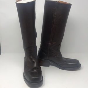 Frye womans 7M Campus ladies pebbled leather boot